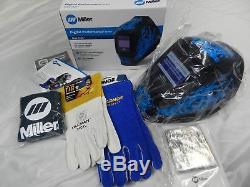 Miller Digital Performance Blue Rage Auto Darkening Welding Helmet (282001) NEW