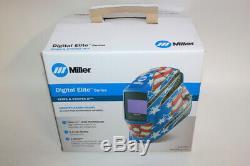 Miller Stars & Stripes III 3 Digital Elite Helmet 281002 Auto Darkening With Clear
