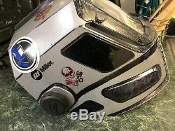Miller T94 Auto-Darkening Welding Helmet with external grinding