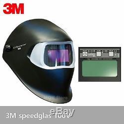 NEW 3M Speedglas 100V Auto Darkening Welding Helmet shades 8-12 Hood Filter