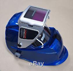 NEW SERVORE 5000X-SLIDE BLUE Auto Lift Auto Darkening Welding Helmet Shade #9-13