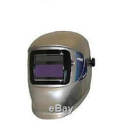 NEW WH40 ELEMENT Variable Auto-Darkening Welding Helmet Silver SOLAR POWER