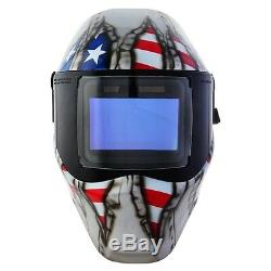 New Save Phace RFP Welding Helmet E Series 40sq inch lens 4 Sensor Ripped