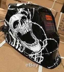 New WSL Auto Darkening Welding Helmet+Grinding Hood Mask