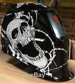 New WSL WELDING HELMET AUTO DARKENING MIG TIG ARC Skull hood