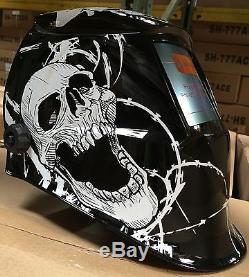 New WSL WELDING HELMET AUTO DARKENING MIG TIG ARC Skull hood Wires