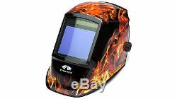 PYRAMEX WHAM3030FL AUTO DARKENING Digital Welding Hood FLAME DESIGN