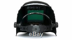 PYRAMEX WHAM3030GB AUTO DARKENING Digital Welding Hood GLOSSY BLACK