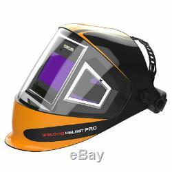 Panoramic 180 View Auto Darkening Welding Helmet True Color 1/1/1/1 Welder Mask