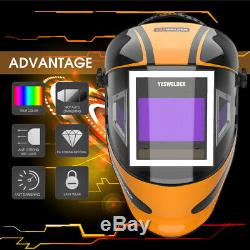 Panoramic 180 View Auto Darkening Welding Helmet True Color 1/1/1/1 Welder Mask