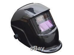 Pro Solar Welding Helmet Welder Mask Auto-Darkening Arc Tig Mig Grinding Black