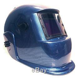 Professional Blue Carbon Fiber Auto Darkening Filter Welding Helmet 1891
