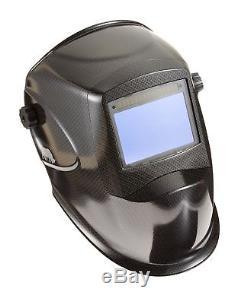 RHINO LARGE VIEW + GRIND Auto Darkening Welding Helmet CARBON FIBE. NO TAX