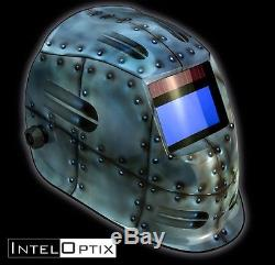 Rivets 1100 Auto Darkening Solar Welding Helmet Mask + Grind mode ARC MIG Hood