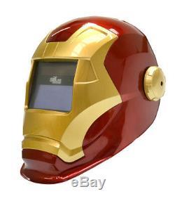 SIFLITE revenge auto darkening welding helmet / Ironman helmet FXADF700A(red)