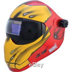 Save Phace Auto-Darkening Welding Helmet Iron Man Graphics, Model# 3012503