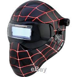 Save Phace Auto-Darkening Welding Helmet withGrind Mode-Black Spiderman Graphics