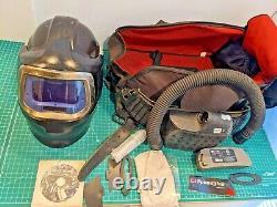 See pictures! Speedglas 9100 MP Air Hard Hat Welding Helmet 3M Adflo