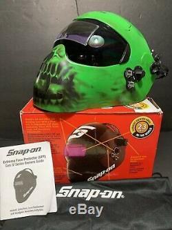 Snap-On EFPGREENSKL Gen IV Auto Darkening Welding Helmet Green Skull