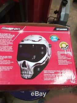 Snap On Morbid Auto Darkening Welding Helmet, EFP2MORBID Skull With Grind Feat