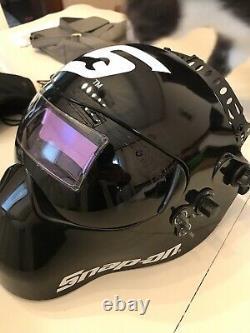 Snap-On welding helmet auto darkening Black Mask