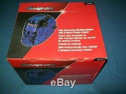 Snap-on YA4610 Blue Skulls Auto-Darkening Welding Helmet External Shade Control