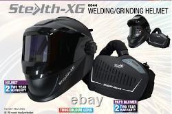 Stealth-XG Air Fed Welding & Grinding System Helmet True Colour Flip Up Screen