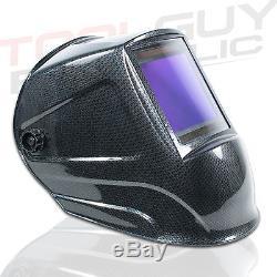 TGR Extra Large View Auto Darkening Welding Helmet Carbon Fiber 4W x 3.65H