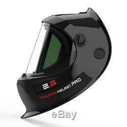 True Color Solar Power Auto Darkening Welding Helmet with SIDE VIEW TIG MIG ARC