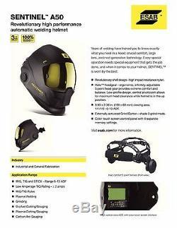 USED ESAB Halo Sentinel A50 Automatic Welding Helmet 0700000800