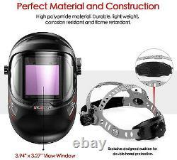 Ultra Large Viewing True Color Solar Powered Auto Darkening Welding Helmet TIG