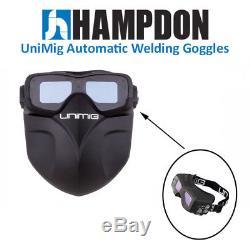 Unimig Auto Darkening Welding Goggles MIG TIG PLASMA Helmet UMAWG