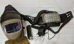 Used 3M Speedglas Welding Helmet 9002x Adflo 15-1099-01 Papr respirator