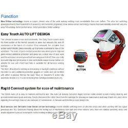 Welding Helmet SERVORE 5000X-SLIDE Red Auto Darkening Welding Helmet Shade #9-13