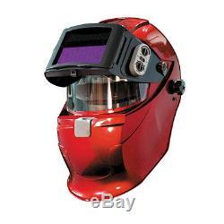 Welding Helmet SERVORE Auto Lift & Auto Darkening Welding Helmet 5000X-SLIDE Red