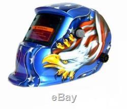 Welding Helmet Solar Mig Mask Auto Darkening American Eagle Stars Flag