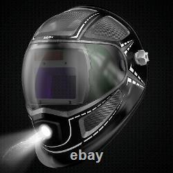 Welding Helmet with light, Large Viewing Welding Helmet Auto Darkening/SIDE VIEW