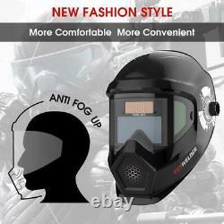 YESWELDER Anti Fog Up True Color Solar Powered Auto Darkening Welding Helmet wit