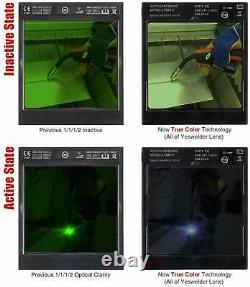 YESWELDER Large Viewing Screen 3.94X3.66 True Color Solar Power Auto Darkening