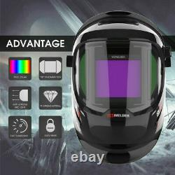 YESWELDER Large Viewing True Color Auto Darkening Welding Helmet with Side View