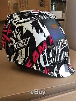 YSL Auto Darkening Welding Helmet+Grinding Hood Mask Solar