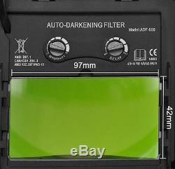 YSL Solar WELDING HELMET AUTO DARKENING MIG TIG ARC Mask cheater-lens-ready hood